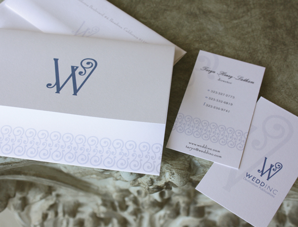 Custom business stationery and note cards.